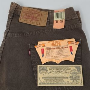 NWT Vintage Levi's 501 Preshrunk Jeans Men's 42x32